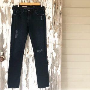 AG The Stilt Distressed Dark Wash Jeans